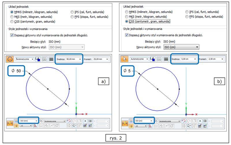 Automatyczne dopasowanie jednostek miary do przyjętego układu w SOLID EDGE ST7