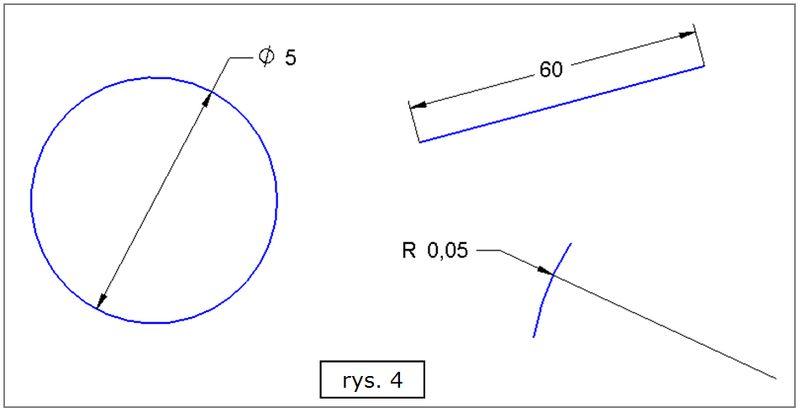 Efekt przypisania stylów wymiarowania do różnych obiektów w SOLID EDGE ST7