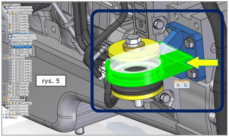Źródłowy obiekt odniesienia - powielanie komponentów złożenia w SOLID EDGE ST7