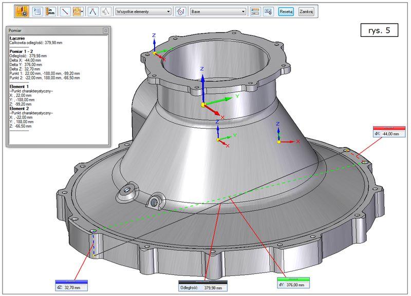 Rozbudowa funkcjonalności narzędzia Pomiar w SOLID EGDE ST7
