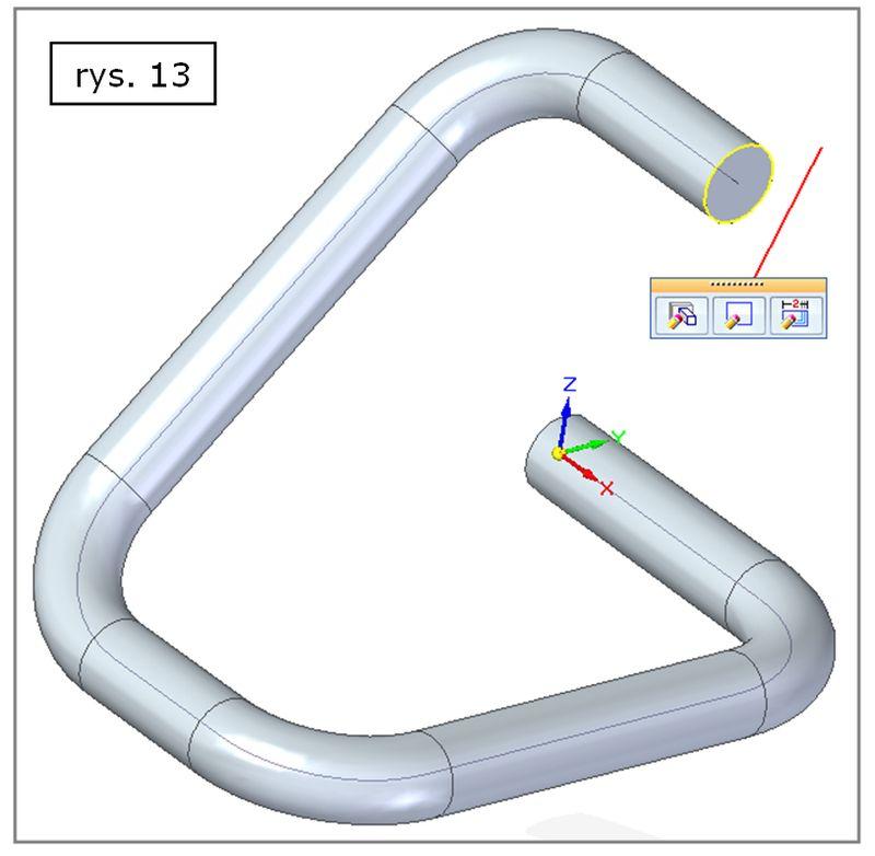 Przykładowy efekt zastosowania polecenia Szkic 3D w SOLID EDGE ST7