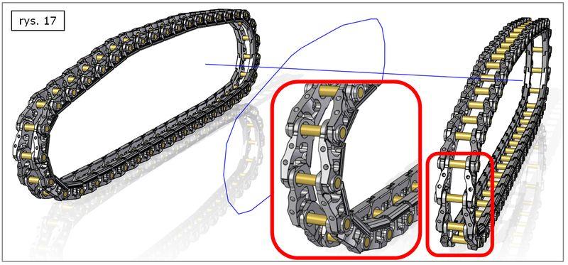 Efekt wykonania szyku wzdłuż krzywej w złożeniu SOLID EDGE ST7 - szczegóły