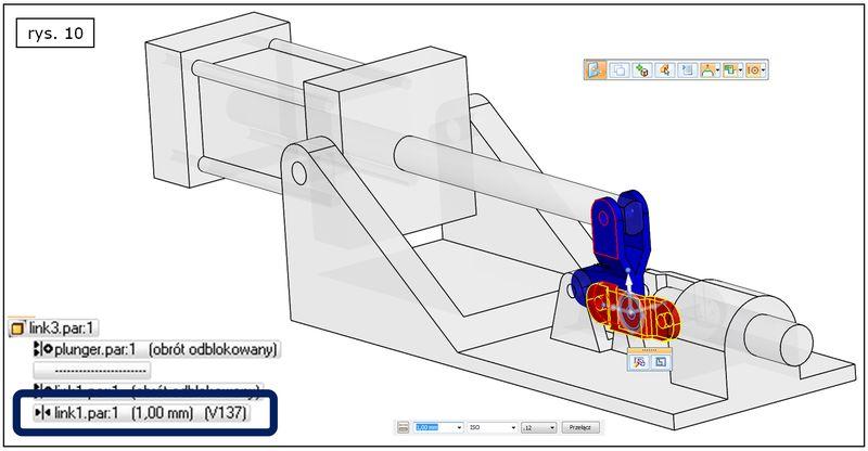 Wyróżnienie wybranej relacji w złożeniu Solid Edge ST7