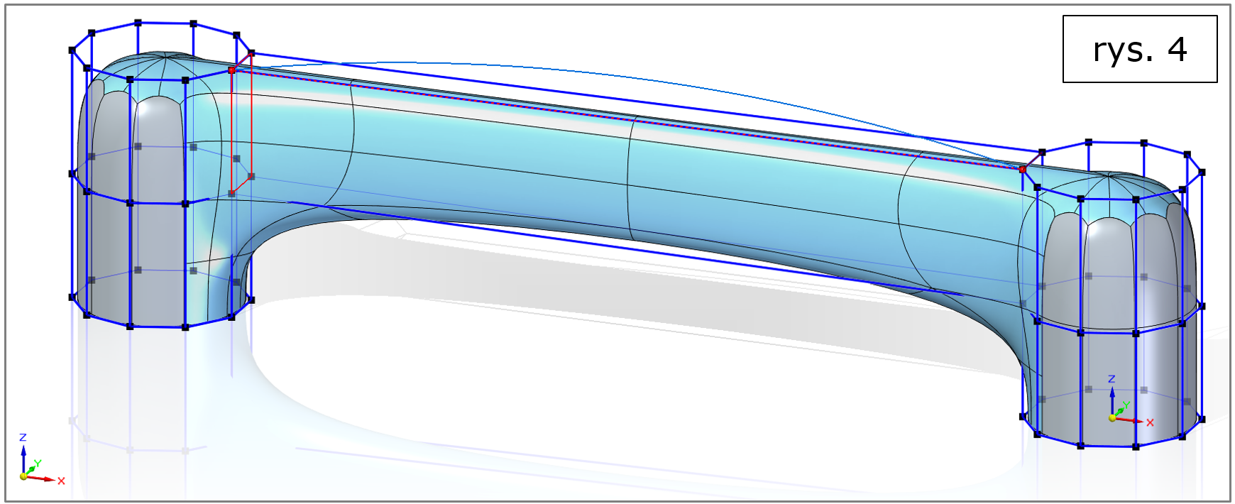 subdivision modeling, most bez krzywej Solid Edge 2022