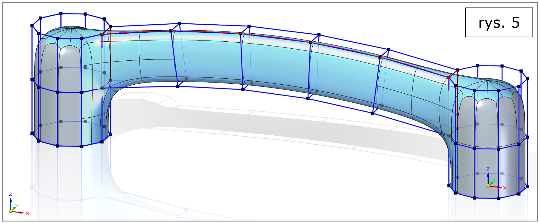 subdivision modeling, most wzdłuż krzywej-Solid Edge 2022