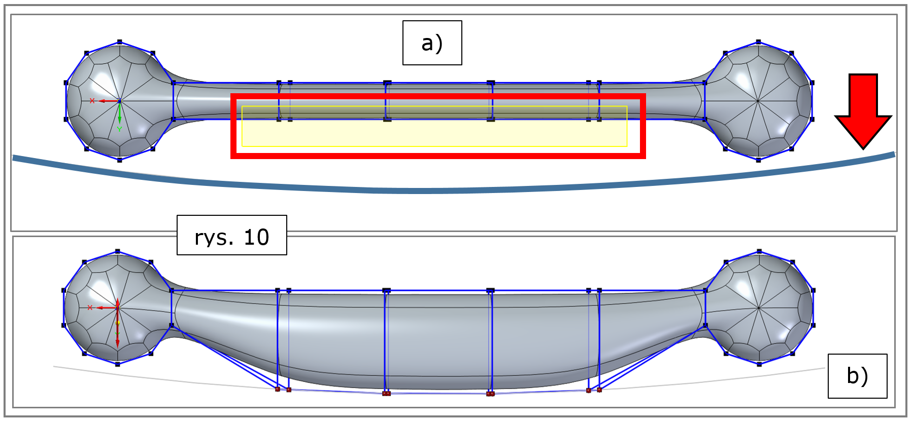 subdivision modeling, wyrównanie do krzywej,-Solid Edge 2022-wskazanie