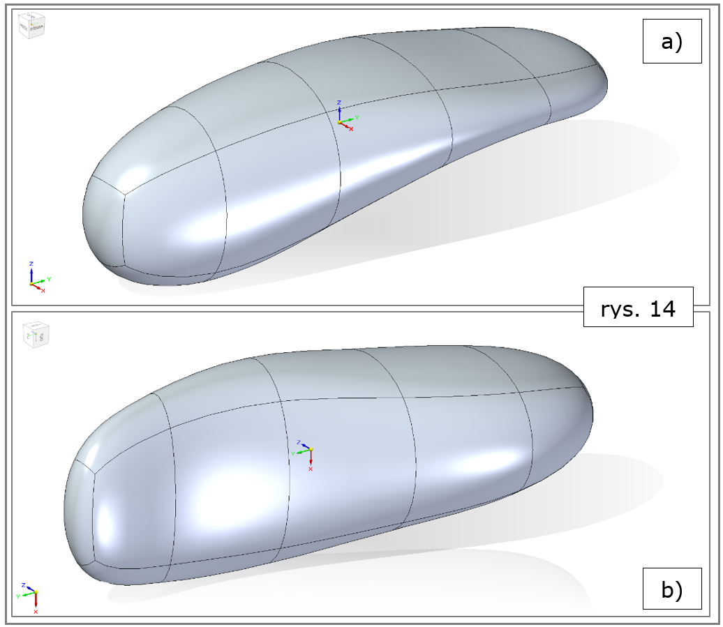 subdivision modeling, wyrównanie do krzywej, efekt finalny, pilot-Solid Edge 2022