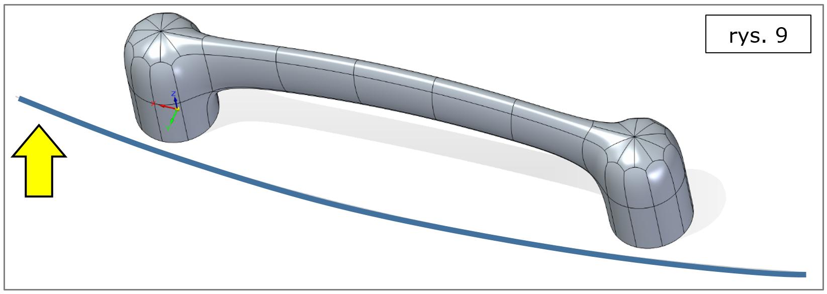 subdivision modeling, wyrównanie do krzywej-rozpoczęcie-podstawa-Solid-Edge-2022